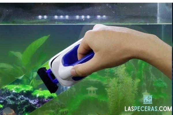 esponja magnetica para limpiar acuario